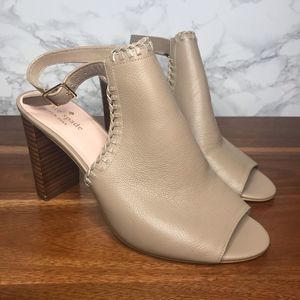 NEW Kate Spade Orlene Block Heel Leather Heels